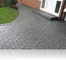 Country Cobble Platinum Grey Double Cobble Edging
