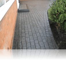 Country Cobble Platinum Path and Step Grey Double Cobble Edging