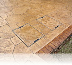 Man Hole Covers in Octagon Stone Drive in Biscuit