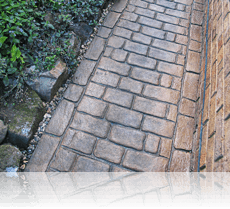 Country Cobble Path in Rustic Sandstone