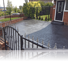 London Cobble Drive in Slate