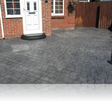 London Cobble Driveway Platinum Grey