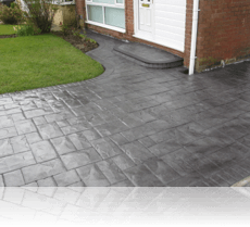 Ashlar Slate Drive and Step Basalt