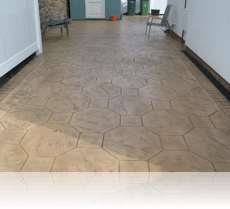 Octagon Stone Path and Driveway Biscuit with Brown