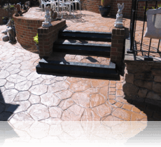 Random Stone Patio and Steps Rustic Sandstone