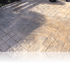 Compass Feature in Rustic Sandstone with Charcoal Release Agent