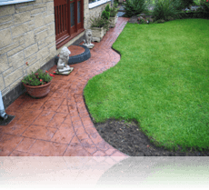 Ashlar Slate Path in Terracotta