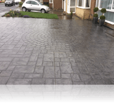 9 foot Cobble Circle Feature in Platinum Grey with Charcoal RA
