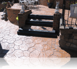Tiered Patio Steps in Random Stone