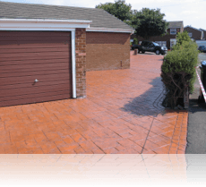 Ashlar Slate Drive and Path Terracotta with Black Release Agent