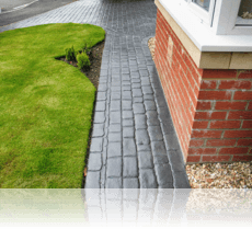 London Cobble Path in Slate