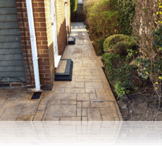 Random Ashlar Path In Rustic Sandstone