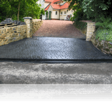 Boot Curb on country cobble drive