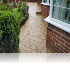 Random Ashlar Slate Path in Biscuit