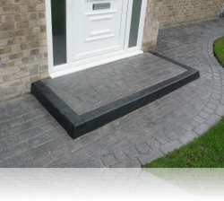 Rectangular Step in Country Cobble