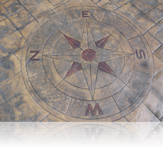 Compass Feature Stained