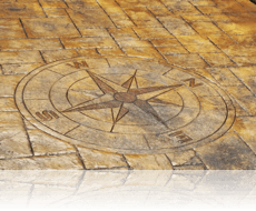 Compass Feature Stain Etched Ashlar Slate in Riverside Tan Charcoal Ra