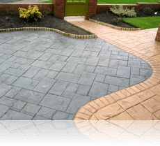 Ashlar Slate Drive and Path in Mid Buff and Basalt Grey
