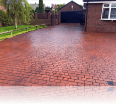 Country Cobble Drive Brick Red