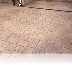 9 Foot Circle Feature in Ashlar Slate