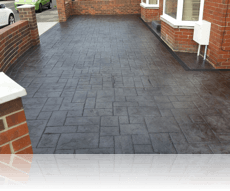 Random Ashlar Drive and Path in Graphite Grey