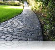 Country Cobble path in Slate Blue