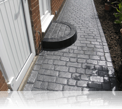 Radial Step in Country Cobble